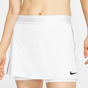 Nike court dri fit xs white tennis skort